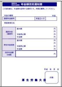 【みんなのねんきん】年金額改定通知書