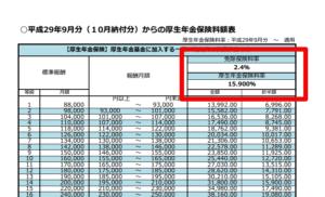 【みんなのねんきん】平成29年9月分からの保険料額表