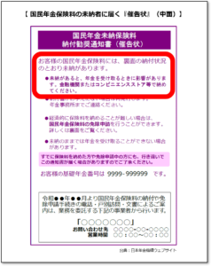 【みんなのねんきん】国民年金の未納者に届く催告状