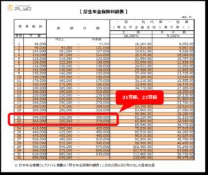 【みんなのねんきん】厚生年金保険料額表