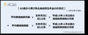 【みんなのねんきん】65歳から受け取る老齢厚生年金の計算式